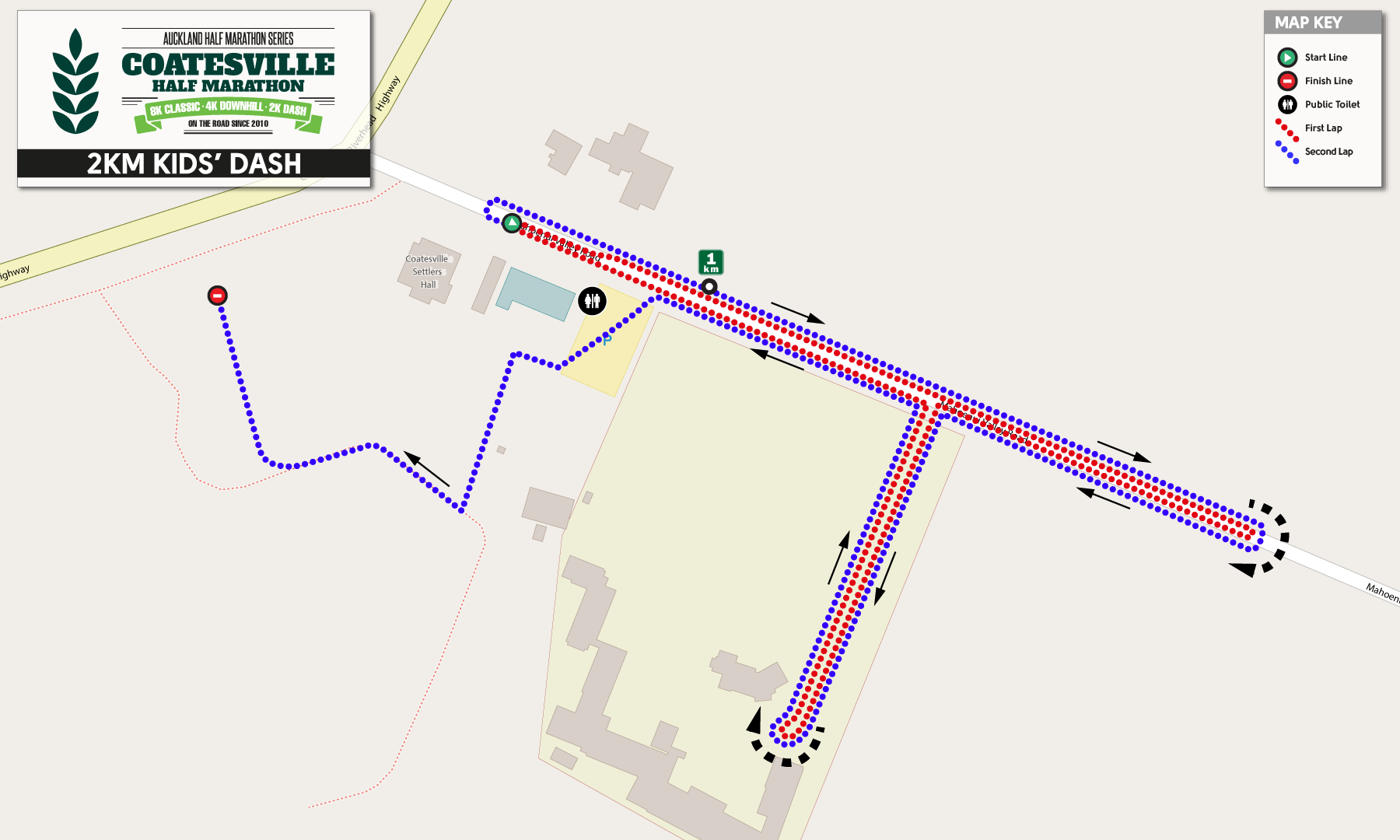 2k Course Map