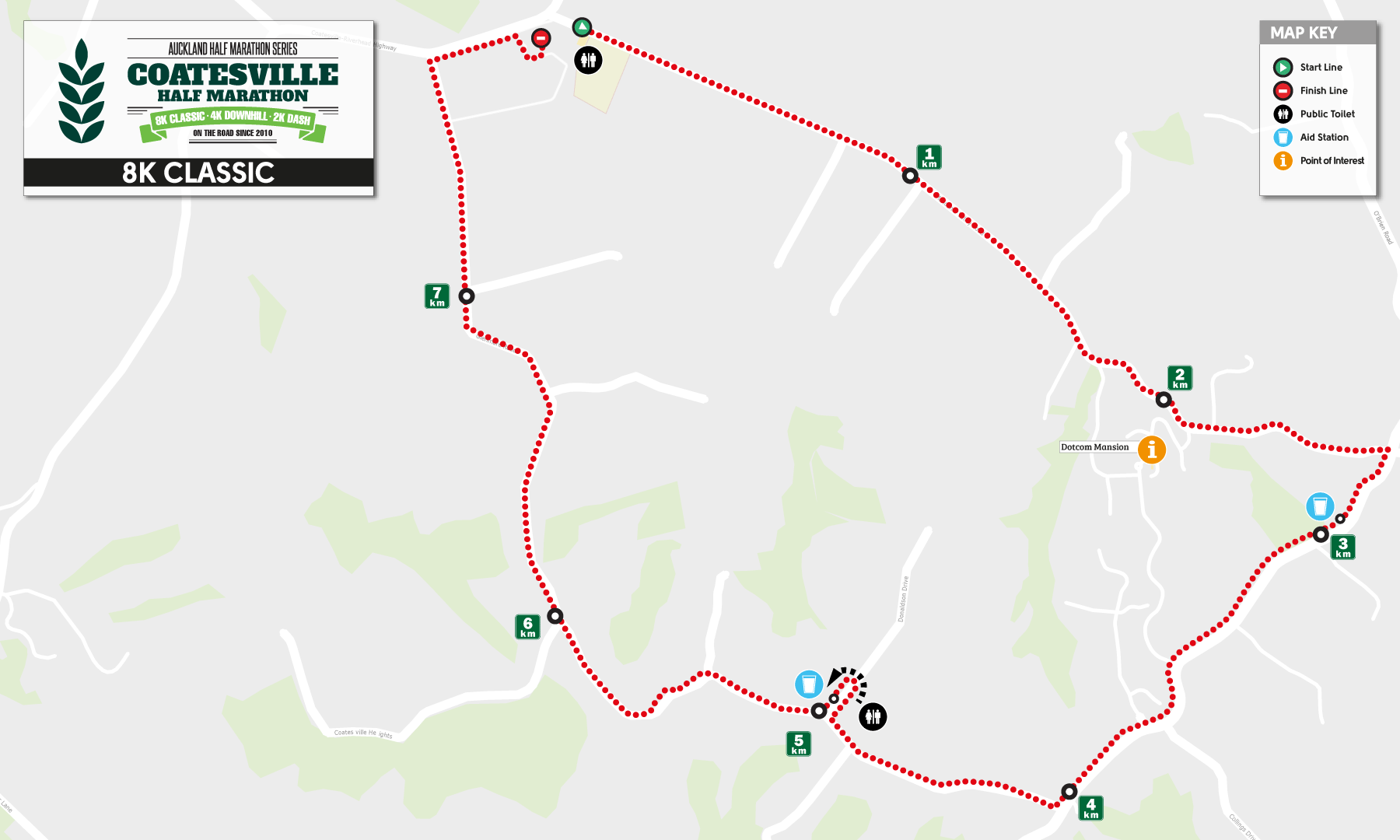 8k Course Map